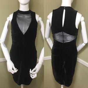 Emerald Sundae Velvet, Black Dress with Mesh, sz S